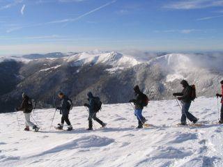 Accompanied snowshoeing