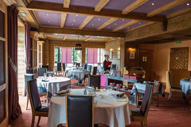 Restaurant de l'hôtel les Jardins de Sophie Xonrupt Vosges