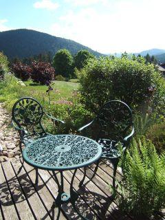 terrasse chambre d hotes chalet l'epinette vacances gerardmer vosges